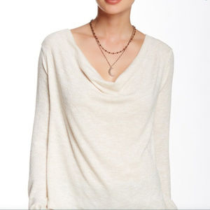 Nordstrom Free People M Ivory Rose Gold Cowl Neck